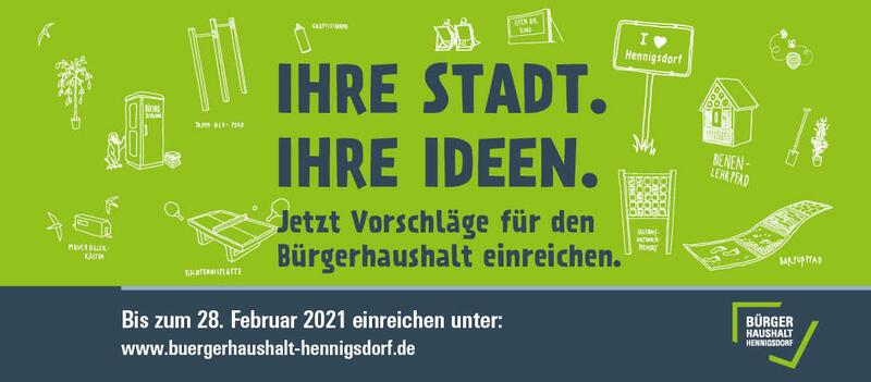 Bürgerhaushalt 2021 Banner